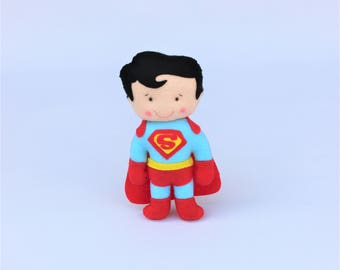 Superman birthday superhero, personalized gift, felt toy, felt, gift children, super Center of table, felt snowman