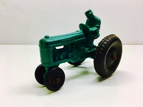 Vintage Auburn Toy Tractor Rubber Tractor Toy Vintage Farm