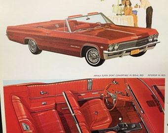 1965 Chevrolet manufacturer catalog, salesman display, fabric and paint samples, specs. El Camino Impala Malibu Bel Air Corsa Monza Chevelle