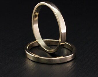 traditional wedding bands simple wedding band set couple rings slim wedding rings - Build Your Own Wedding Ring