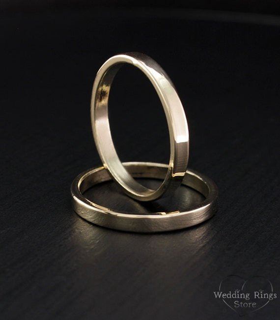 Traditional wedding bands Simple wedding band set Couple