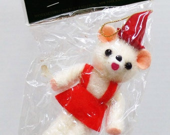 Vintage Santa's World Teddy Bear Christmas Ornament