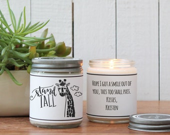 Stand Tall Soy Candle Gift - Support Gift | Cheer Up Gift | Difficult Time Gift | Friend Gift | Inspiration Gift | Gift for Her | Send gift