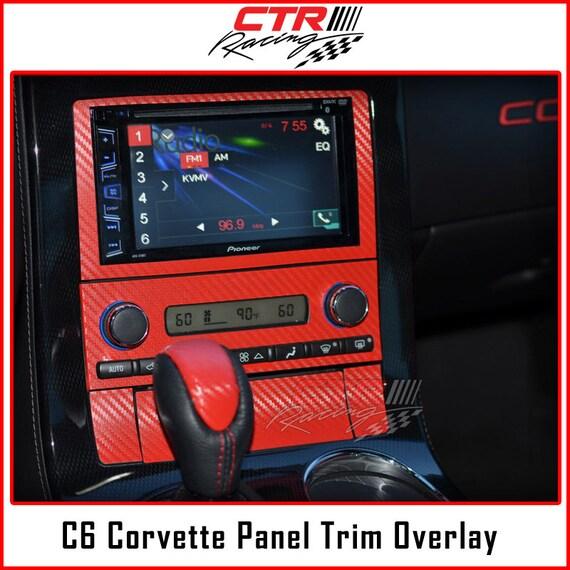 C6 Corvette Radio CD Player Panel Overlay
