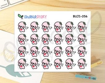 BUJI-056 - SHOCKED SURPRISED - Hand Drawn Planner Stickers