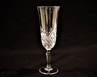 Champagne Flute - Vintage Cut Lead Crystal