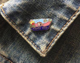 Vintage Puerto Rico enamel lapel pin (# t35)