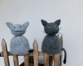 Fence stool or hand puppet cat