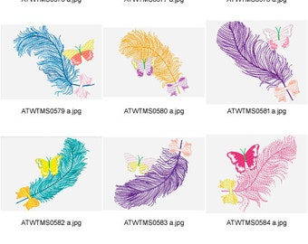 Feathers-with-Style. ( 10 Machine Embroidery Designs from ATW )