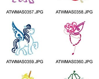 Outline-Magic-World ( 10 Machine Embroidery Designs from ATW ) XYZ17E