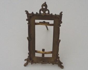 Vintage Small Gilded Metal Photograph Frame Baroque Design Victorian Photo Frame