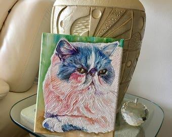 Custom cat painting, custom animal painting, cat art, cat portrait, pet painting, pet lovers, customer pet painting