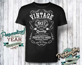 80th birthday, 80th birthday gifts for men, 80th birthday gift, 80th birthday tshirt, 1937, 80th birthday gift for women, vintage 1937