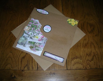 Retirement greetings card and envelope - hand crafted size 20 cm x 20 cm