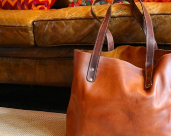 Rustic Leather Tote