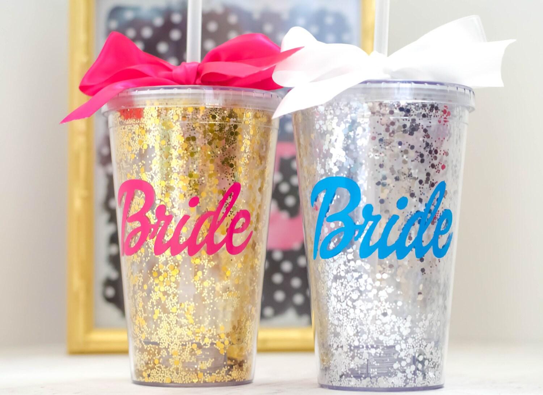 Team Bride Tumbler Wedding Party Tumblers Bachelorette Cups