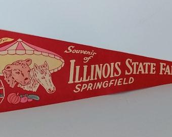 Illinois State Fair - Vintage Pennant