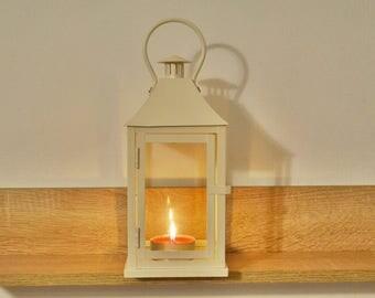 Vintage off white  Lantern /Metallic Candle Holder / wedding Lanterns/ wedding lanterns centerpiece