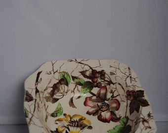 Vintage Alfred Meakin 1950's bowl - Bourbon Lily - Floral - Hand painted