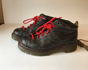 Doc Martens, Vintage Doc Martens, Vintage Docs, Brown Doc Martens, Mens Doc Marten Hiking Boots, Mens Size 8, Soft Leather Boots