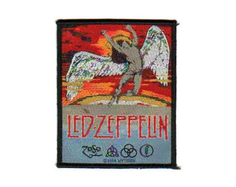 LED ZEPPELIN 'Swan Song' sew on woven patch 2004 .  Officially licensed