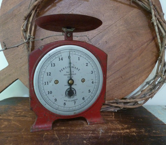 charming red kitchen scales made in australia rustic