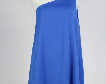Layered One Shoulder Sleeveless Light Weight Long Blouse/Custom One Shoulder Top/ + Colors