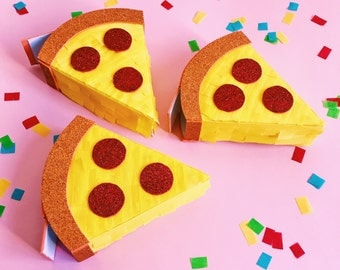 Pizza pinata, Mini pinata, Emoji theme party, Pizza theme party, Emoji pinata, Pizza party, Emoji party, Pizza lover, SET OF 3
