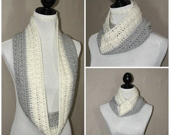Eternity scarf, big scarf, chunky cowl snood, winter chunky snood, oversized loop scarf, cowl snood scarf, crochet scarf, woman's scarf