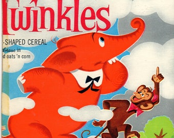 1960's Twinkles General Mills Cereal Box Book Twinkles and the Telescope