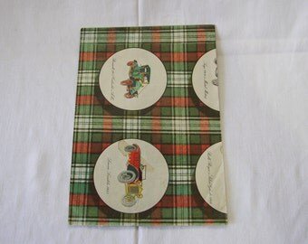 Vintage | Automobile | Tartan | Wrapping Paper