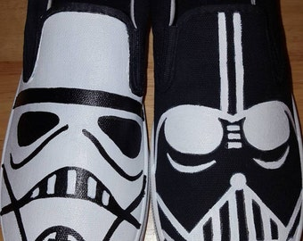 Star Wars Shoes- Darth Vader and Stormtrooper