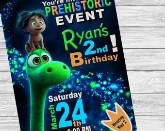 Good Dinosaur Birthday Invitation
