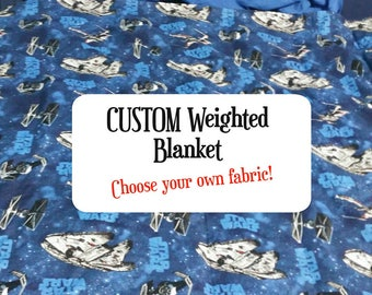 CUSTOM made 10 pound weighted blanket