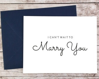 I Can't Wait To Marry You Card, To My Groom Card, To My Bride Card, Wedding Day Card, Wedding Day Gift - (FPS0016)
