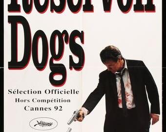 Reservoir Dogs (1992) Original French Door Panel Movie Poster