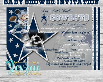 Dallas Cowboys Baby Shower Invitations diabetesmanginfo