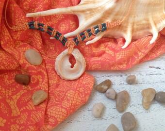 Belle I  - Seashell Macramé necklace