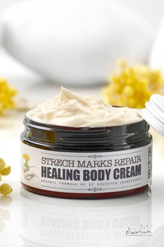 HEALING BODY CREAM Stretch Marks Repair • Organic skin healing cream, stretch marks healing, skin repair, scars rebuild, organic skincare