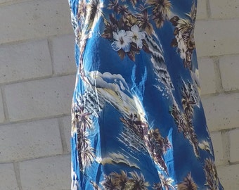 Authentic Blue Hawaiian Dress