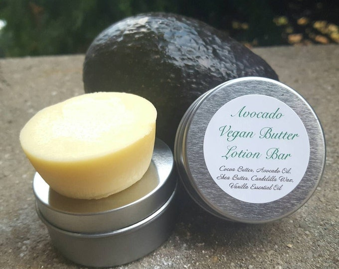 Vegan Avocado Butter Lotion Bar | Moisturizing Bar | Pamper Gift | Vegan Friendly