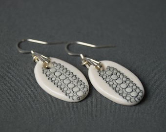"Ears ""Urban"", porcelain, ceramic jewel earrings"