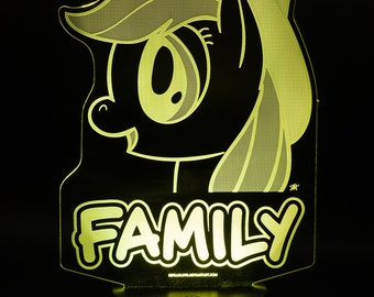 Applejack Family My Little Pony LED Light Display