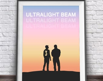 Kanye West & Chance The Rapper • Ultralight Beam Acid Rap Yeezy Kanye West Chance 3 Poster The Life of Pablo Yeezy Boost Kanye Poster Art