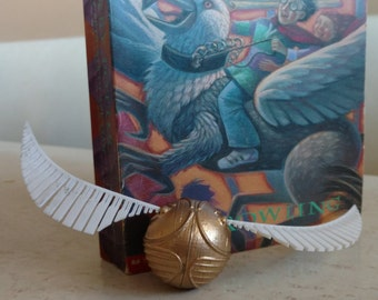 3d Printed Golden Snitch with Wings