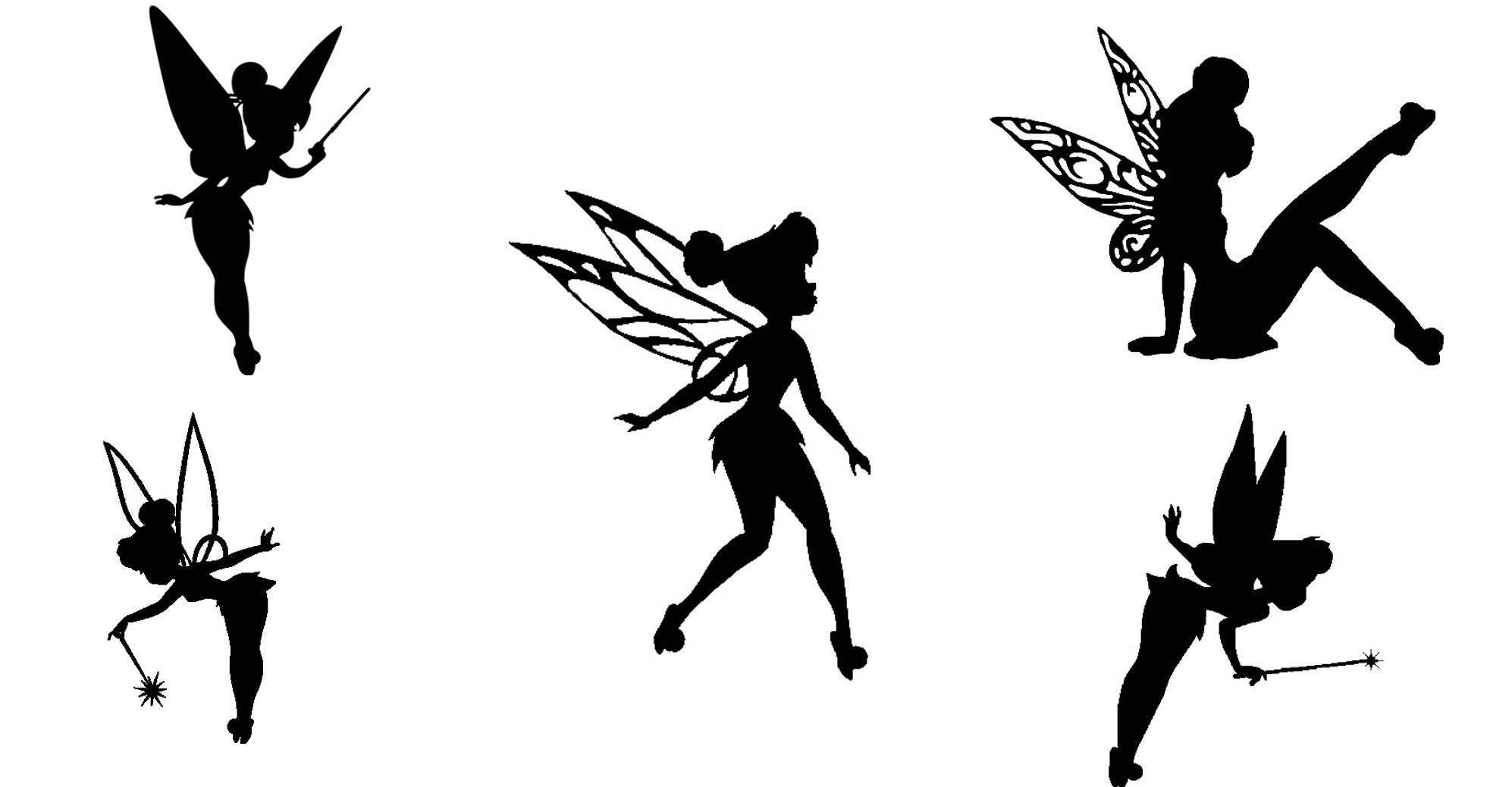 fairy cut out template - tinkerbell fairy cutout silhouette 15 tinkerbell die