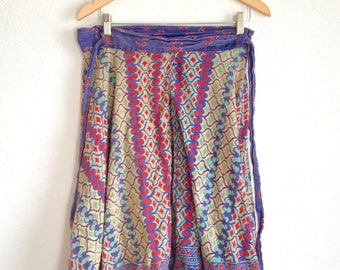 Colorful Indian Wrap Skirt