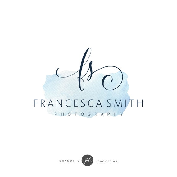 Stylish watercolor calligraphy logo elegant photography
