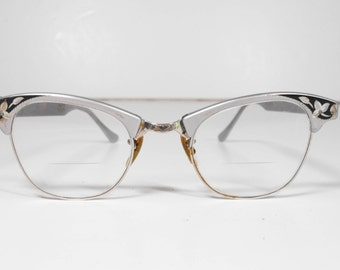 Vintage Cateye Glasses 1950's Prescription Lens by ArtCraft    (1009)