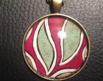 Necklace Pendant 'Green Leaf'